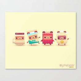 ALPHABEAR - Breakfast Bears Canvas Print