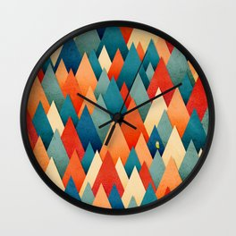 070 – deep into the autumn forest texture I Wall Clock