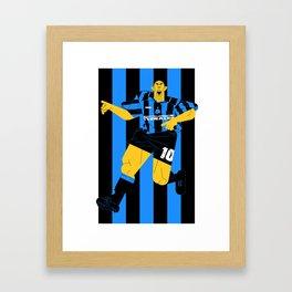 R10 Nerazzurri Framed Art Print