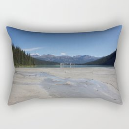 Looking out over Lake Louise Rectangular Pillow
