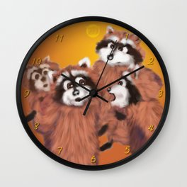 Raccoon Series: Discussion Wall Clock