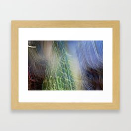 Abstract Lit Xmas Tree1 Framed Art Print