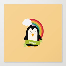 Penguin Rainbow from Hawaii  T-Shirt for all Ages Canvas Print