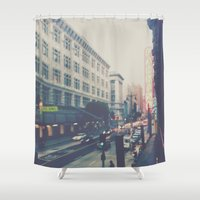 broadway Shower Curtains featuring Broadway Street by Story Of Tascha