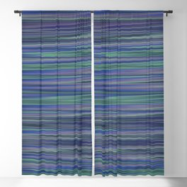 BECALM shades of blue purple green calm water abstract design Blackout Curtain