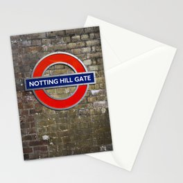 Notting Hill Gate Tube Sign Stationery Cards
