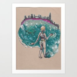 I Want A Hundred Days of Bright Lights Art Print