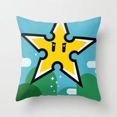 Ninja Star Power Throw Pillow