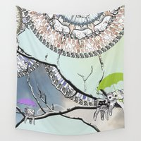 tooth Wall Tapestries featuring Family Tooth by infloence