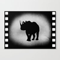 rhino Canvas Prints featuring Rhino by LoRo  Art & Pictures