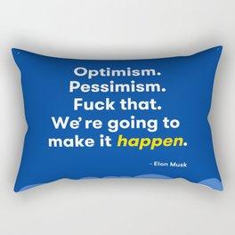 Elon Musk Optimism Quote Rectangular Pillow