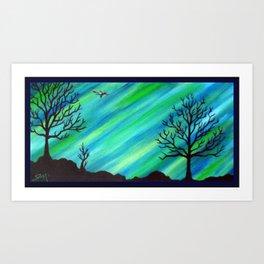 Happy Critter Tree no. 4 Art Print