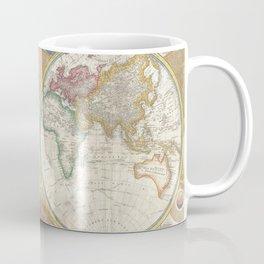 Map of the World in Hemispheres Coffee Mug