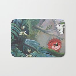 Cutie Creatures in the forest Bath Mat