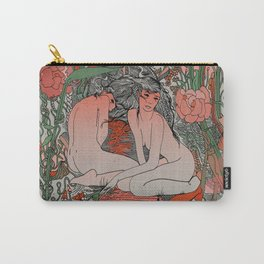 Two Sisters II: Bird of Paradise & Blood Orange Carry-All Pouch