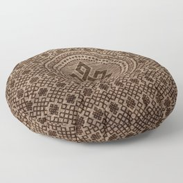 Endless Knot Decorative on Wooden Surface Floor Pillow