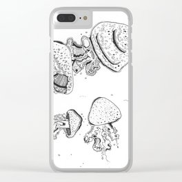 A Mushroom wibbly wobbly Clear iPhone Case