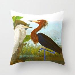 Purple Heron Throw Pillow