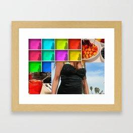 Vivid collage Framed Art Print