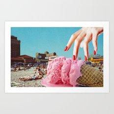 Summertime Ice-Cream Crime Art Print
