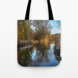 Narrow Boats At Woolhampton Tote Bag