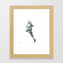 Femme Shark Framed Art Print