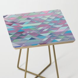 Triangle Pattern no.3 Violet Side Table
