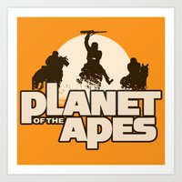 planet of the apes Art Prints featuring Planet of the Apes by leea1968