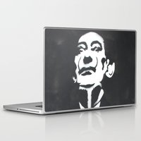 salvador dali Laptop & iPad Skins featuring Salvador Dali Stencil by FutureAstro