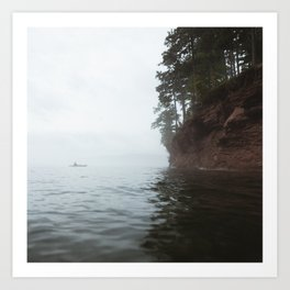 Kayaking at Little Presque Isle | Marquette, Michigan | John Hill Photography Art Print