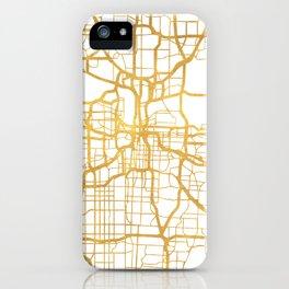 KANSAS CITY MISSOURI CITY STREET MAP ART iPhone Case