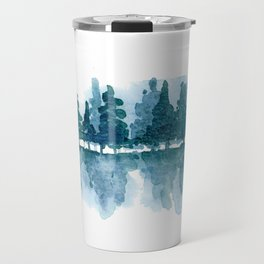 Smoky Mountain Trees Reflected Travel Mug