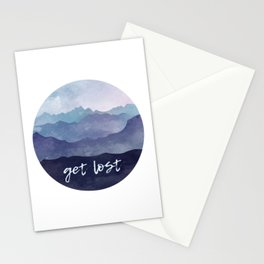 Get Lost Watercolor Stationery Cards