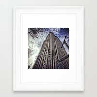 30 rock Framed Art Prints featuring 30 Rock by April Gann