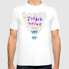 Think inside the box White SMALL Mens Fitted Tee
