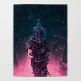 The Technocore / 3D render of futuristic structure Poster