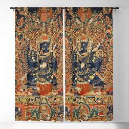 Tantric Buddhist Vajrabhairava Deity 2 Blackout Curtain