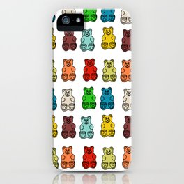 Cute Gummy Bear Candy Collage iPhone Case
