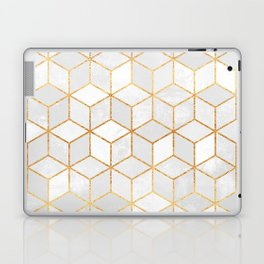 White Cubes Laptop & iPad Skin