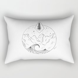 The Trees, The Mountains, And The Sea Rectangular Pillow