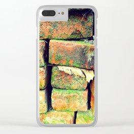 Green Stack Clear iPhone Case