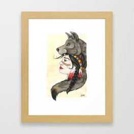 A Wolf's Tail Framed Art Print