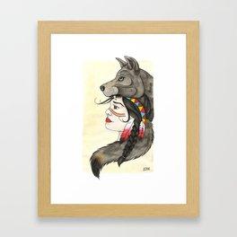 A Wolf's Tail Framed Art Print