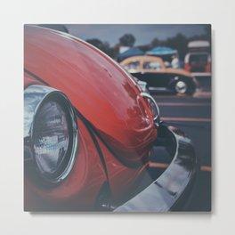 Vintage Red Auto Metal Print