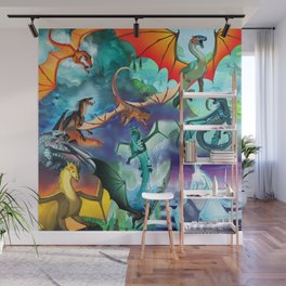 Wings of fire all dragon bg Wall Mural