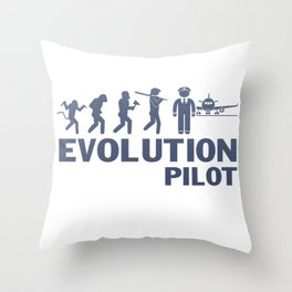 Evolution - Pilot Throw Pillow