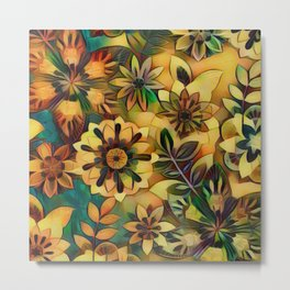 A Floral Dance Metal Print