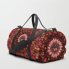 Fall Pug Medallion Duffle Bag