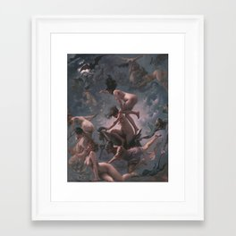 WITCHES GOING TO THEIR SABBATH / THE DEPARTURE OF THE WITCHES - LUIS RICARDO FALERO Framed Art Print