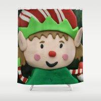 elf Shower Curtains featuring Vulcan Elf by IowaShots